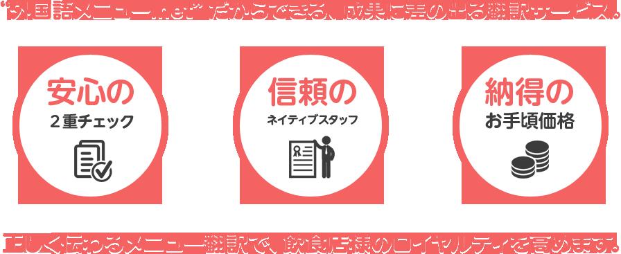 外国語メニュー.netだからできる、成果に差の出る翻訳サービス。